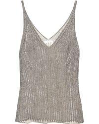 Chloé - Cotton-blend Knit Camisole - Lyst