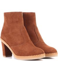 See By Chloé - Suede Ankle Boots - Lyst