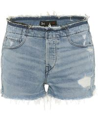 3x1 - Stripped Shelter Denim Shorts - Lyst