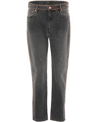 Isabel Marant | Netiff Studded Cropped Jeans | Lyst