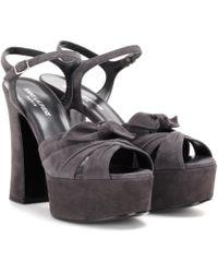 Saint Laurent | Candy Suede Platform Sandals | Lyst