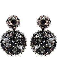 Oscar de la Renta - Crystal-embellished Disk Earrings - Lyst