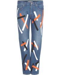 Christopher Kane - Embellished Cropped Denim Jeans - Lyst