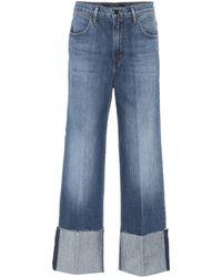 J Brand - Joan Cropped Wide-leg Jeans - Lyst