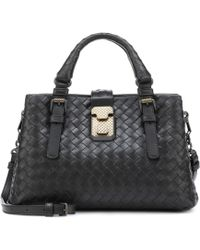 Bottega Veneta - Mini Roma Intrecciato Leather Tote - Lyst
