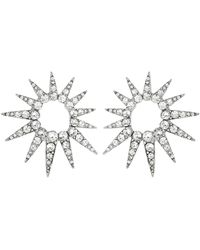 Oscar de la Renta - Crystal Starburst Earrings - Lyst