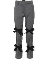 Simone Rocha - Skinny Stretch-wool Pants W/ Bow Details - Lyst
