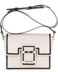 Roger Vivier - Viv Mini Graphic Leather Shoulder Bag - Lyst