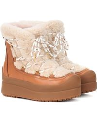 Tory Burch - Courtney 60mm Shearling Ankle Boots - Lyst