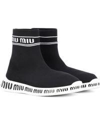 Miu Miu - Sock Boots - Lyst
