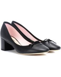 Repetto - Farah Leather Court Shoes - Lyst