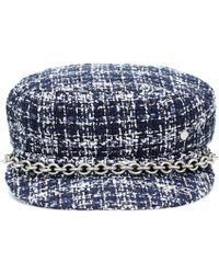e7936a9895e Prada Houndstooth Wool Tweed Bucket Hat - Lyst