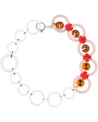 Marni - Embellished Floral Necklace - Lyst