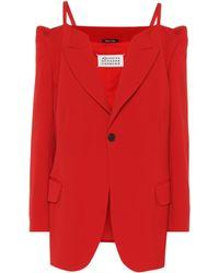 Maison Margiela - Off-the-shoulder Wool-blend Jacket - Lyst