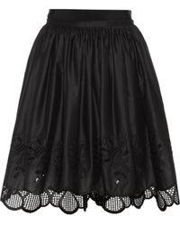 Moncler - Lace-trimmed Cotton Skirt - Lyst