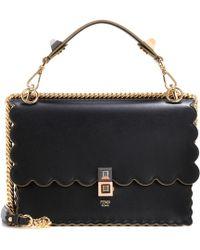 Fendi | Kan I Leather Shoulder Bag | Lyst