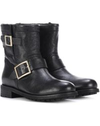 Jimmy Choo | Youth Leather Ankle Boots | Lyst