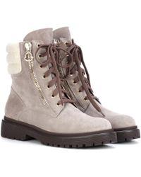 Moncler - Boots New Viviane aus Veloursleder - Lyst