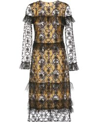 Burberry - Dress With Tulle Overlay - Lyst