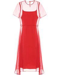 Mansur Gavriel - Layered Silk Dress - Lyst