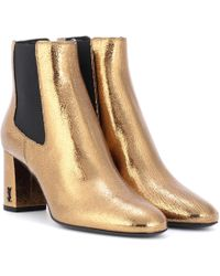 Saint Laurent - Loulou 70 Leather Ankle Boots - Lyst