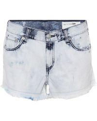 Rag & Bone - Short en jean délavé - Lyst