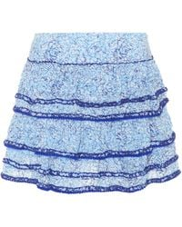 Poupette - Bibi Floral-printed Tiered Skirt - Lyst