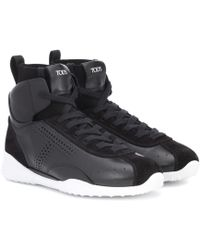 Tod's - Leather High-top Sneakers - Lyst
