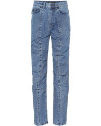 Y. Project - Ruffled Straight-leg Jeans - Lyst