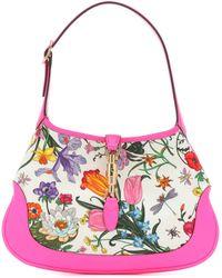 Gucci - Jackie Leather-trimmed Shoulder Bag - Lyst
