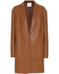 Agnona - Leather Coat - Lyst