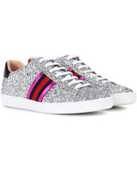 ed17a3125 Gucci - Ace Glitter Low-top Sneaker - Lyst