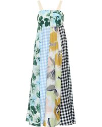 Lee Mathews - Bridget Printed Cotton Blend Apron Dress - Lyst