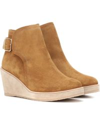 A.P.C. - Suede Ankle Boots - Lyst