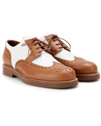 Loro Piana - Affin Breeze Leather Brogues - Lyst