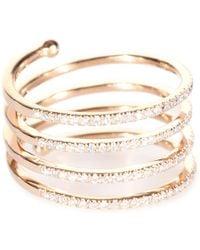 Stone Paris - Vertigo 18kt Rose Gold Ring With White Diamonds - Lyst