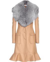 Altuzarra - Fur-trimmed Wool-blend Coat - Lyst