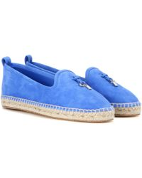Loro Piana - My Charms Suede Espadrilles - Lyst