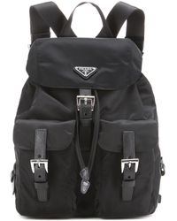 prada soft calf one-pocket backpack