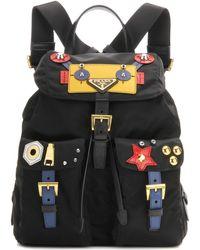 prada fake bag - Prada Tessuto Hawaii Nylon Backpack in Black (black-multi) | Lyst