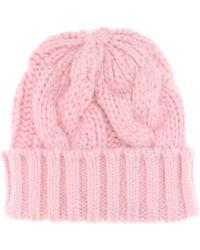 Ganni - Brooks Knitted Baby Alpaca-blend Beanie - Lyst