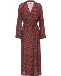 Burberry - Mulberry Silk Robe - Lyst