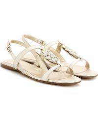 Loro Piana - Kaila Leather Sandals - Lyst