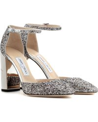 Jimmy Choo - Mabel 95 Glittered-leather Court Shoes - Lyst