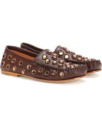 Acne | Jackson Stone Leather Loafers | Lyst