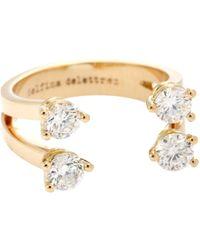 Delfina Delettrez - Dots 18kt Rose Gold Phalanx Ring With Diamonds - Lyst