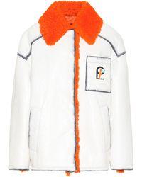 Prada - Shearling-trimmed Leather Jacket - Lyst