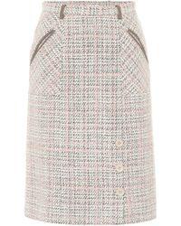 Agnona - Wool-blend Pencil Skirt - Lyst