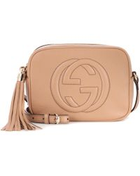 3a359cb49cb Lyst - Gucci Soho Leather Disco Bag in Natural