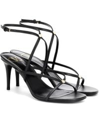 208f97c2e58 Givenchy Cage Strap Kitten Heel Sandal in Pink - Lyst